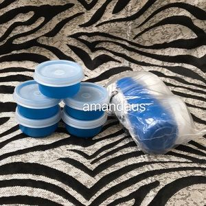 *New* Tupperware Smidgets Set of 10 Blue